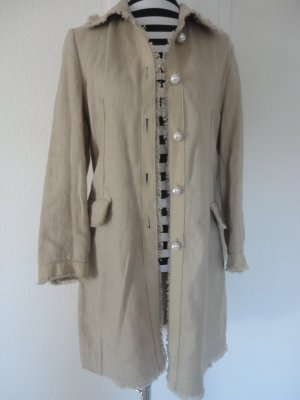 Authentic Long Jacket multicolored linen