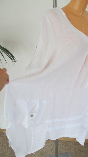 Blouse en lin blanc lin