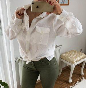 Leinen Hemd von Nadine H. Größe 40 ecru