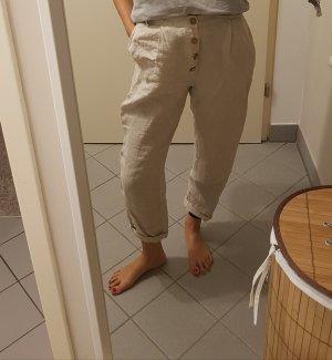 Mango Linen Pants multicolored