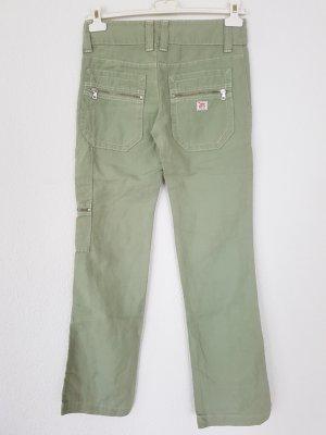 Leinen Jeans Boot Cut Cargo Style w25