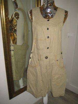 Robe cargo doré-gris vert lin
