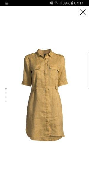 Leinen Kleid von Benetton, ocker Farbe