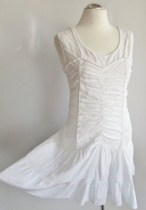 Hippie Dress white linen