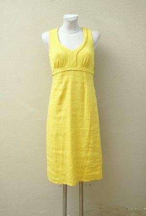 Leinen Kleid - Zitronengelb