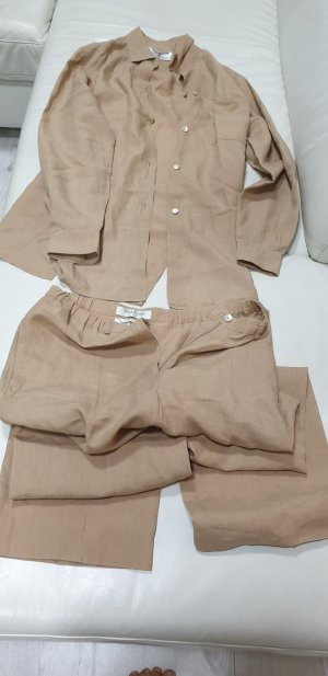 Max Mara Trouser Suit sand brown linen