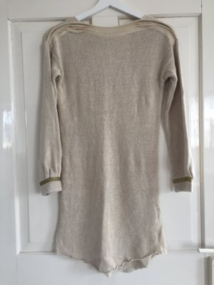 Leinen Long Pulli mit Gold