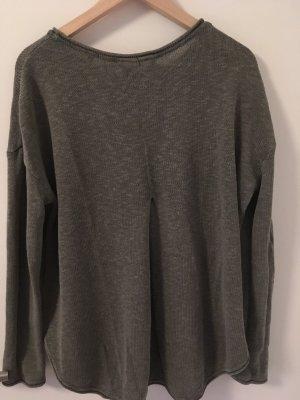 Leinen Pullover in Khaki