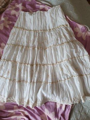 Biba Linen Skirt cream