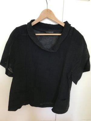 Leinen Shirt schwarz