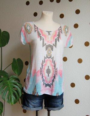 Leinen Shirt Zara Ethno Boho Festival Sommer