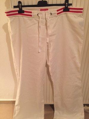 Review Pantalone di lino bianco-rosso