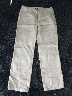 H&M Pantalone di lino marrone-grigio-grigio-verde