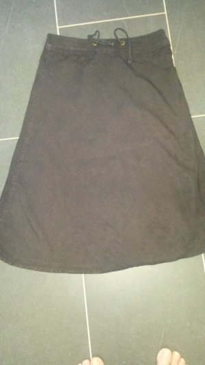 Closed Linen Skirt taupe-dark brown