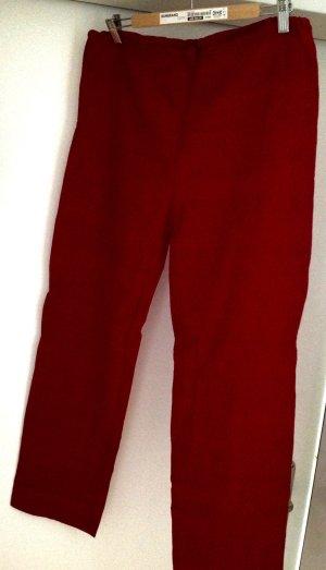 Pantalón tobillero rojo oscuro Lino