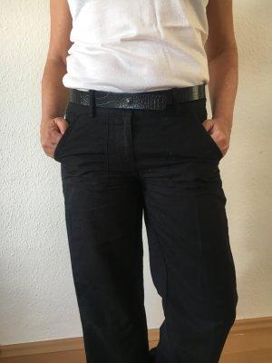 Leinen-Sommerhose mit weitem Bein