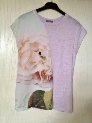 Zara Camiseta estampada multicolor