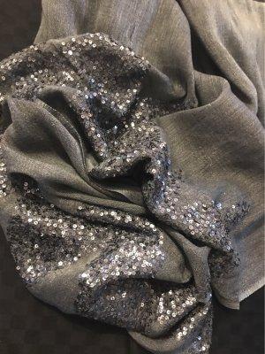 thymian Sciarpa estiva antracite-grigio chiaro Seta