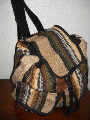 Leinen XXL Rucksack Tasche Bag Shopper Schultertasche h m braun beige schwarz IN
