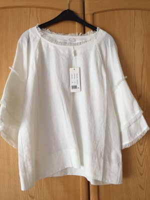 Nice Connection Linen Blouse white linen