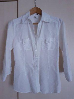 H&M Blouse en lin blanc lin