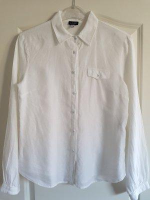 Armani Blusa de lino blanco