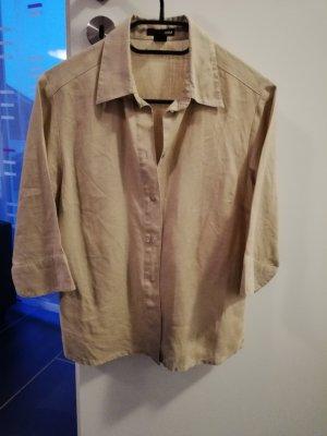 H&M Blusa de lino beige
