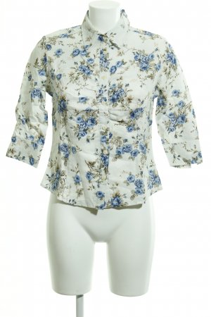 Linen Blouse flower pattern casual look