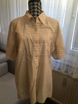 Blouse en lin beige clair tissu mixte