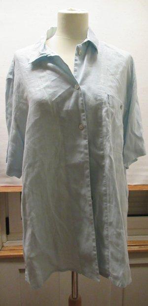 Hirsch Blouse en lin bleu pâle-gris vert lin