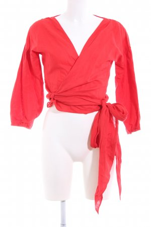 Linen Blouse red casual look