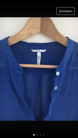 Sophie Blusa de lino azul