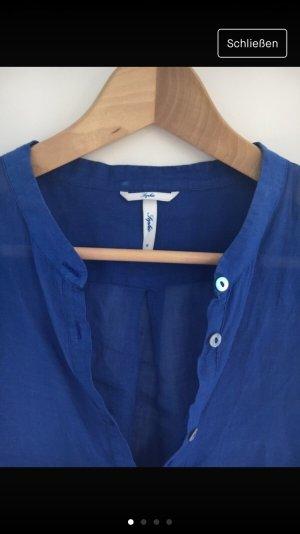 Sophie Blouse en lin bleu