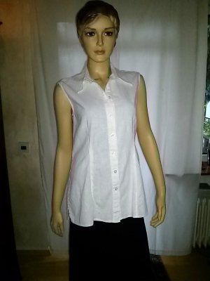 Authentic Sleeveless Blouse white mixture fibre