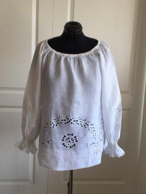 Divina Carmen Blouse white linen