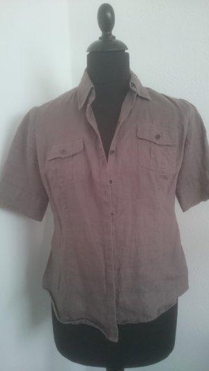 Marie Lund Cols de blouses gris brun lin