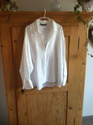 Zara Slip-over Blouse white linen