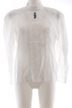 Blusa in lino bianco stile casual