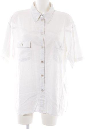 Blusa de lino blanco puro look vintage