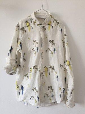 Camisa hawaiana multicolor Lino
