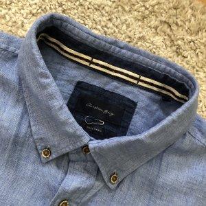 Christian Berg Camicia a maniche corte azzurro-blu fiordaliso