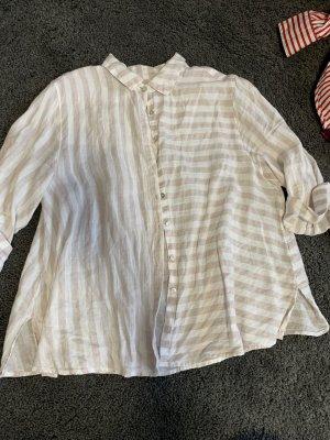 Blusa in lino bianco-crema