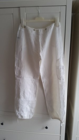 Uli Schneider Pantalón de lino blanco-blanco puro