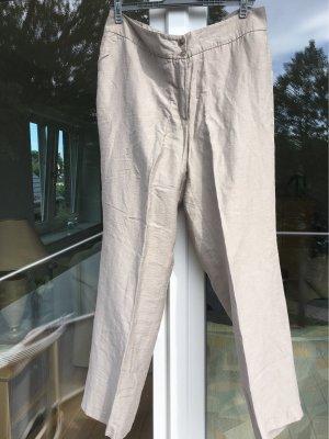 Ulla Popken Pantalón de lino beige claro