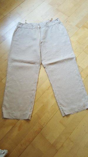 Christian Berg Pantalon en lin beige lin