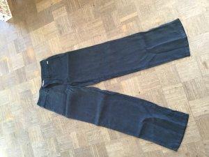 Berri Sport Couture Pantalón de lino negro Lino