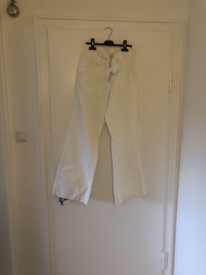 H&M Linen Pants white
