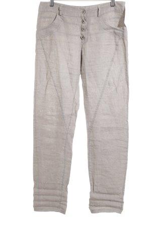 Pantalon en lin gris style classique
