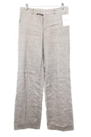 Pantalone di lino marrone-grigio stile casual
