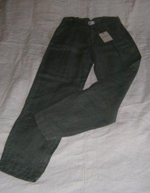 Leinenhose - graugrün - feste Qualität - auch für kühlere Tage